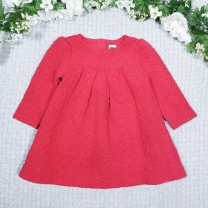 Janie and Jack warm red quilted baby doll dress